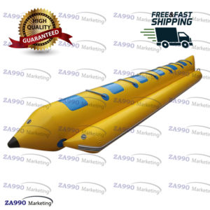 Inflatable Flying Fish Banana Boat 6 Passenger Water Game With Air Pump