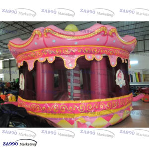 16x13ft Inflatable Princess Bouncy House With Air Blower