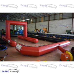 66x33ft Inflatable Race Track Go Karting With Air Blower