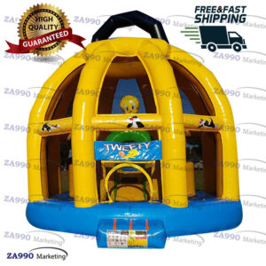 16x20ft Inflatable Tweety Bird Bounce House & Games With Air Blower