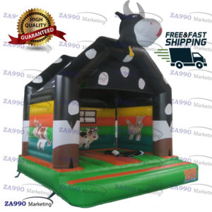 13x13ft Inflatable Cow Bounce House With Air Blower