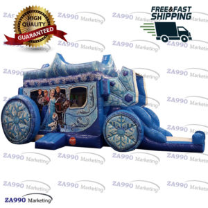 26×11.5ft Inflatable Frozen Carriage Bounce Slide With Air Blower