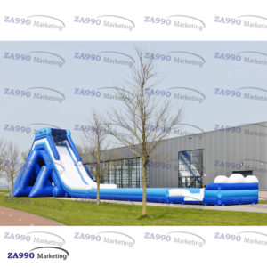 115x33ft Inflatable Water Slide With 4 Air Blowers