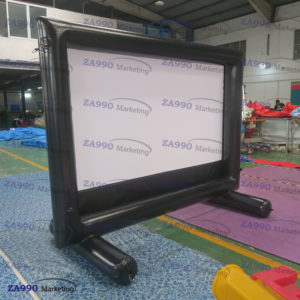 150 Inch Inflatable Movie Screen 16:9 Square With Air Pump