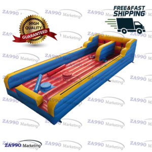 33x10ft Inflatable Bungee Run & Jousting Sticks With Air Blower
