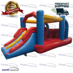 16×8.2ft Inflatable Tunnel Obstacle Bounce House With Air Blower