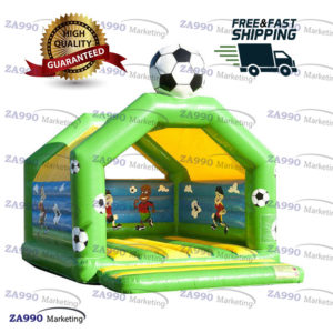 16x13ft Inflatable Soccer Bounce House With Air Blower