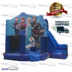 16x15ft Inflatable Frozen Bounce House & Slide With Air Blower