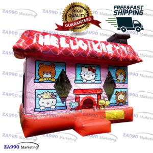 15x15ft Inflatable Hello Kitty Bounce House With Air Blower