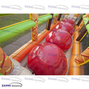 33×11.5ft Inflatable Jungle 4 Big Jump Balls With Air Blower