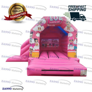 15x13ft Inflatable L.O.L Surprise Bounce House & Slide With Air Blower