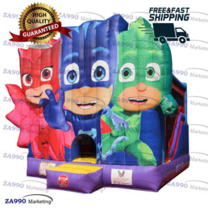16x18ft Inflatable PJ Masks Bounce House & Slide With Air Blower
