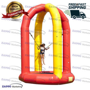 16ft Inflatable Soft Bungee Jumping Trampoline With Air Pump