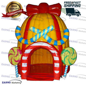 10x10ft Inflatable Snack / Food / Products Booth Tent With Air Blower