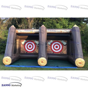 16x10ft Inflatable AXE Lumberjack Throw With Air Blower