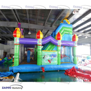 26x16ft Inflatable Aladdin Bounce House & Slide With Air Blower