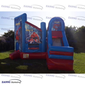 16x16ft Inflatable Spiderman Bounce House & Slide With Air Blower