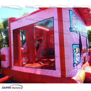 16x13ft Inflatable Hello Kitty Bounce House & Slide With Air Blower