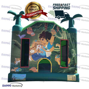 13x13ft Inflatable Go, Diego, Go! Bounce House With Air Blower