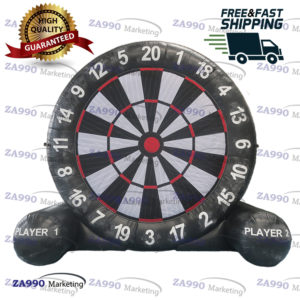 16ft Inflatable Dart Board Foot Soccer Kick Game With Air Blower