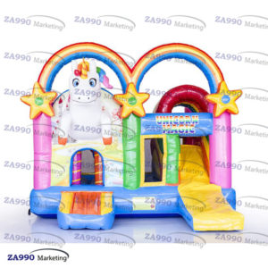 16x13ft Inflatable Unicorn Bounce House With Air Blower