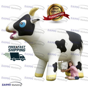 13×4.9ft Inflatable Milking Cow Game With Air Blower