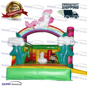 13x13ft Inflatable Pony Bounce House & Slide With Air Blower