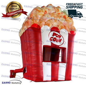 6.6×6.6ft Inflatable Popcorn Food Concession Stand Tent With Air Blower