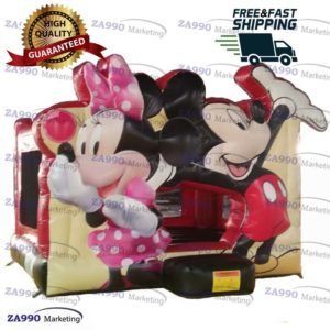16x16ft Inflatable Minnie & Mickey Mouse Bounce House With Air Blower
