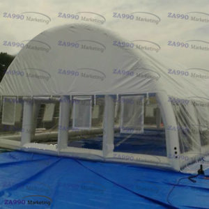 82x39ft Inflatable Cover Tent For Swimming Pool With Air Blower