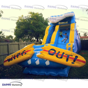 26x13ft Inflatable Slide Wipe Out With Air Blower