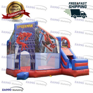 16x16ft Inflatable Superman Bounce House & Slide With Air Blower
