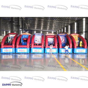 28×5.9ft 6 In 1 Inflatable Activities Games With Air Blower