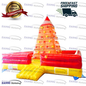 20x20ft Inflatable Climbing Bounce Tower Wall With Air Blower