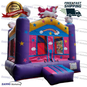 13x13ft Inflatable Unicorn Bounce House With Air Blower