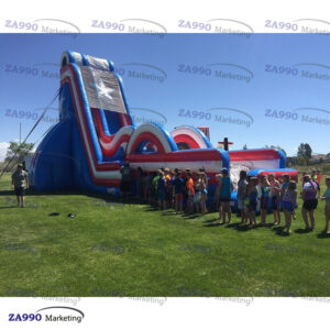 46x13ft Commercial Inflatable Water Slide With 2 Air Blowers