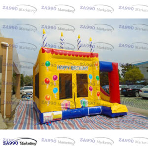 16x16ft Inflatable Birthday Bounce House & Slide With Air Blower