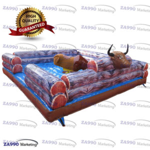 16x16ft Inflatable Rodeo Riding Bull Machine Red Eyes With Air Blower