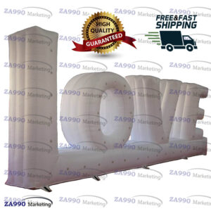 23ft Inflatable LOVE Letter Wedding Event Promotion With Air Blower