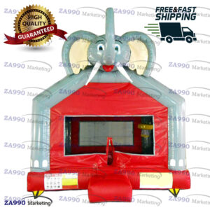 13x13ft Inflatable Elephant Bounce House With Air Blower