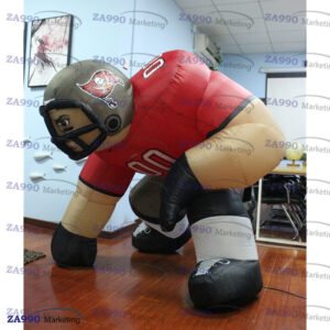 5ft Inflatable Half-squatting Rugby Player Advertising With Air Blower