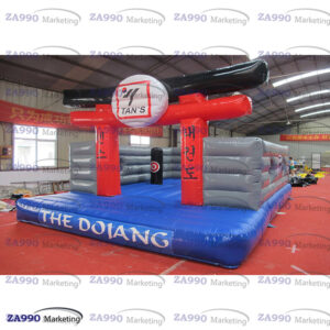 23x16ft Inflatable Karate Dojo Center Open Bounce House With Air Blower