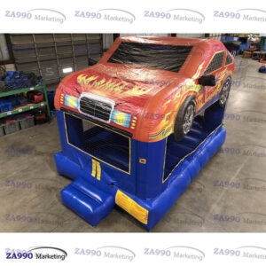 13x13ft Inflatable Race Car Bounce House Combo With Air Blower