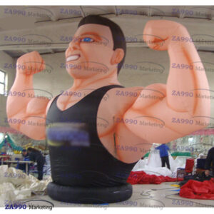 13ft Inflatable Fitness Muscle Man Sport Advertising With Air Blower