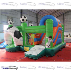 16x16ft Inflatable Soccer Bounce House With Air Blower