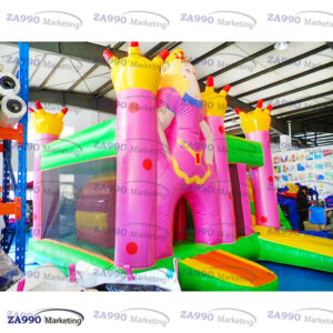 18x16ft Inflatable Princess Bounce House & Slide With Air Blower