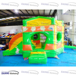 13x10ft Inflatable Pentagon Jungle Bounce House With Air Blower