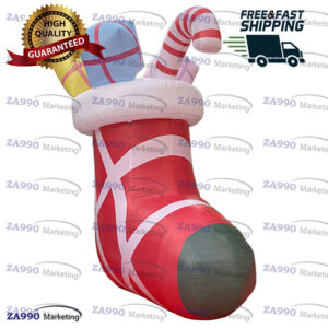 11.5ft Inflatable Christmas Stocking Of Gifts Holiday With Air Blower