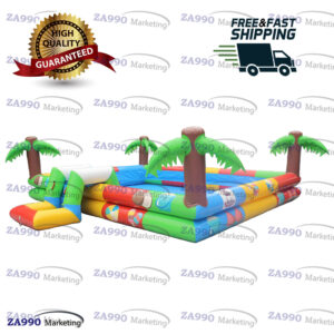 13x16ft Inflatable Water Colorful Swimming Pool With Air Pump