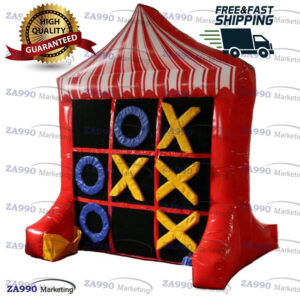 8.2×6.6ft Inflatable Tic Tac Toe and Connect 4 Game With Air Blower
